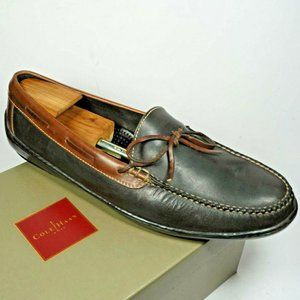 COLE HAAN moccasin 13 D black brown leather loafer